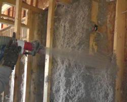 Applegate Stabilized Insulation wall-spray application.