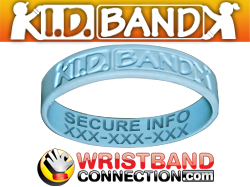 Kid ID Band Custom Silicone ID Wristband - ICE Bracelet