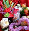 Hawaiian flowers, leis, gift baskets