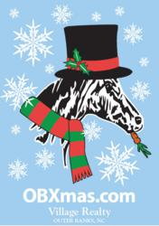 Village Realty Outer Banks Christmas T-Shirt Design
