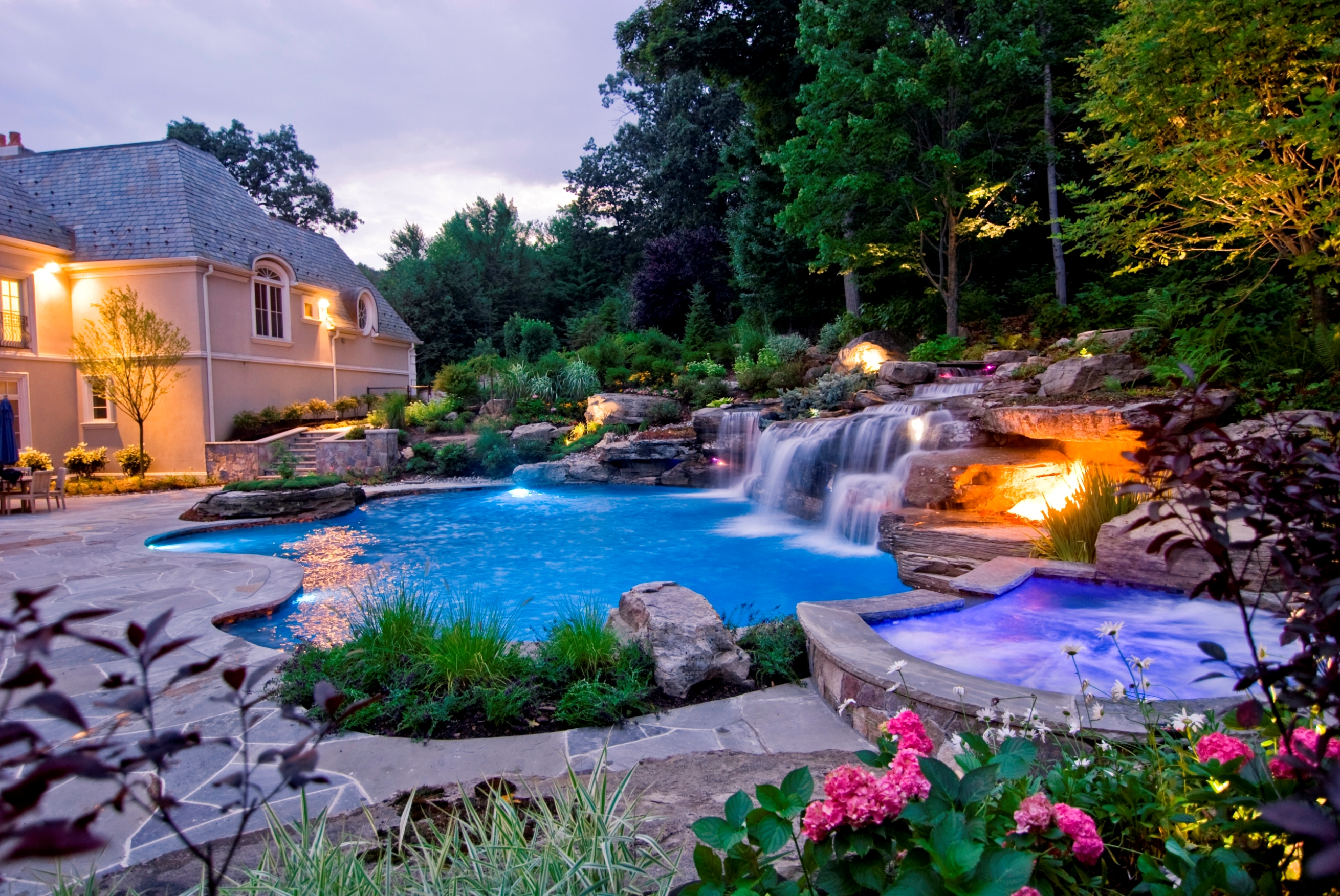 Rolland asley small yard landscaping ideas nj devils - Landscape and pool design ...