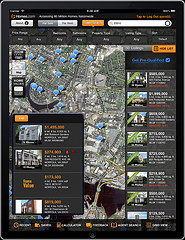 Screenshot of the Homes.com iPad App