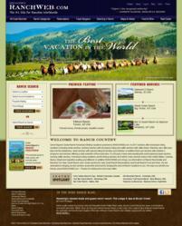 Screenshot of the Ranchweb.com homepage