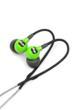 Trax Custom Fit Waterproof Sweatproof Sport Headphones in green