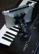 TheGigEasy Suction Cup Mount with iPad Installed on Electric Piano