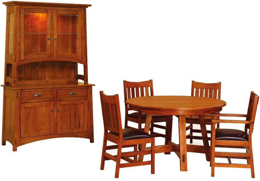 mission dining set amish handcrafted mission dining room set
