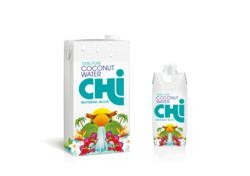 Chi 100% Pure Coconut Water in 1 litre and 330ml Tetra Pak UK and Australia