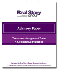 New Taxonomy Management Advisory Paper from The Real Story Group