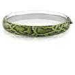 Ice.com Green Snake Printed Bangle Bracelet