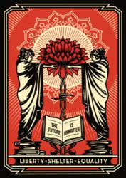 The Future is Unwritten, 2011, by Shepard Fairey