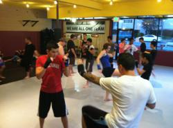Training Muay Thai Kickboxing