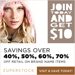 At Zuperstock.com, members get an ability to save up to 70% on brand name merchandise, including: Clothing and Accessories, Jewelry,  Electronics, Home Decor, Travel, Entertainment and much more.
