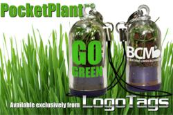 PocketPlant, living plant key chain, grass capsule promotional product