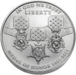 The front of the 2011 Congressional Medal of Honor silver dollar.  (Photo credit: United States Mint.)