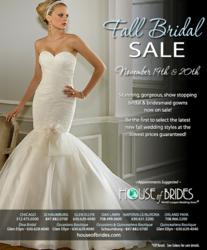 House of Brides' Fall Bridal Sale