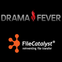 DramaFever Asian and Latin Entertainment Logo - FileCatalyst Fast File Transfer Logo