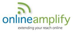 Online Amplify logo and tagline