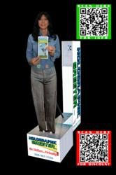 Holographic Greeter with Advanced QR Codes