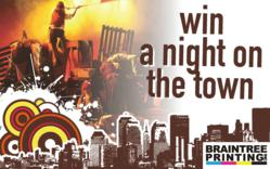 A postcard promoting the contest features a scene from the acclaimed musical Les Miserables.  The winner will receive tickets to the Boston Opera House's 2012 production.