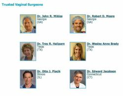 Initial List of Trusted Vaginal Surgeons