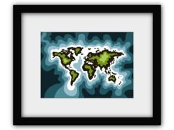 Global map art prints with a global cause.