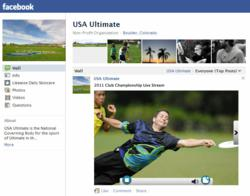 USA Ultimate live stream on Facebook from Streaming as a Service DaCast