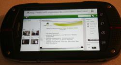 Web Conferencing on Flash enabled Smartphones