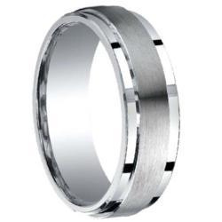 Argentium Silver Satin Band Wedding Ring