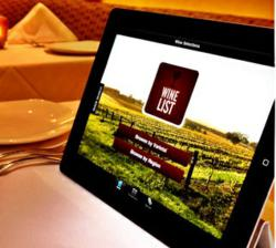 Technology at the table il palio restaurant introduces for Table 52 wine list