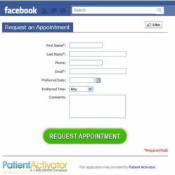 """Request an Appointment"" Facebook App"