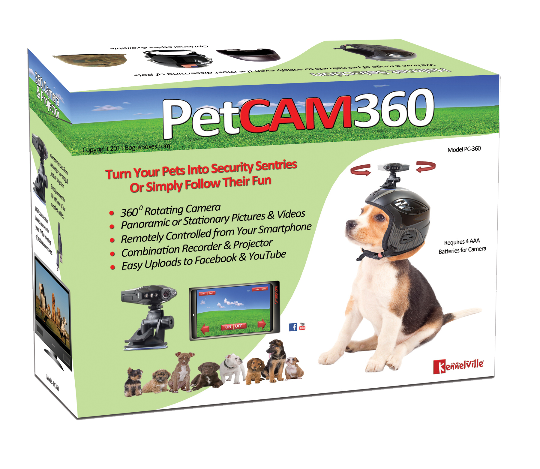Petcam360 Gag Gift Box Turns Pets Into Security Sentinels
