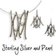 Sterling Silver and Pearl Necklace and Earrings