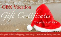 Outer Banks Beach Vacation Gift Certificates