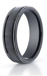 black seranite designer ring