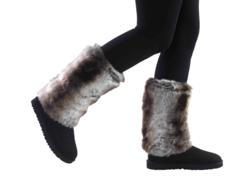 Faux fur boot slip covers