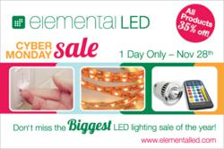 2011 Cyber Monday LED Lighting Sale at Elemental LED
