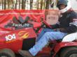 Hall of Fame Lawn Mower Racer Chuck Miller of the 104+ Octane Boost Racing team uses FaceLube suncreen.
