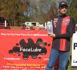 "Jon ""Rooster"" Lewman of CoolRidesOnLine Racing is another masculine manly lawn mower racer who uses FaceLube products."