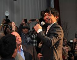 Manny Pacquiao at the CieAura Post-fight Celebration & Charity Event at the Supperclub Los Angeles
