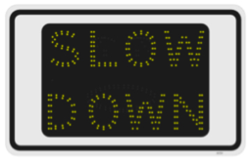 Slow Down Sign - Traffic Calming Solution