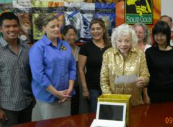 Sissy McGill President Emerita of Solid Gold® selects prize winners.