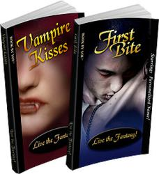 Vampire Kisses and First Bite - Personalized Vampire Books