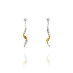 A sterling silver and gold plate clip on earring sold by www.make-me-beautiful.co.uk