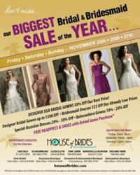 House of Brides Biggest Sale of the Year