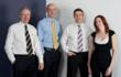 The Handelsbanken Tunbridge Wells team (left to right): Richard Moore, corporate manager; Nick Green, branch manager; Nigel Baldwin, individual banking manager; and Claire Snooks, office manager.