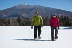 Lake Placid snowshoeing