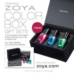 Zoya Nail Polish Color Box