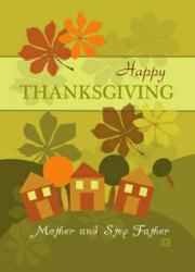 Thanksgiving Card for Mother and Step Father