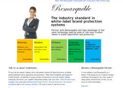 Trademark resellers can use Remarqueble search, application and registration technologies