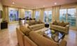 Spacious living and dining space at one of the 36 duplex villas.